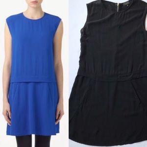 Aritzia/t.babaton - black 100% silk crepe dress